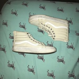 All white vans sk8 his